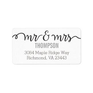 Mr & Mrs Address Labels