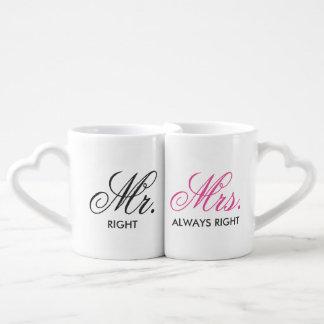 Mr.&Mrs. Always Right Personalize Coffee Mug Set