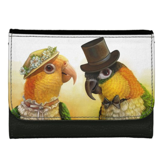 Mr & Mrs Caique Realistic Painting Wallet For Women