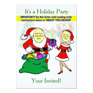 Mr. & Mrs. Claus Party Invitation