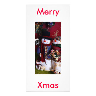 mr. & mrs. claus personalized photo card