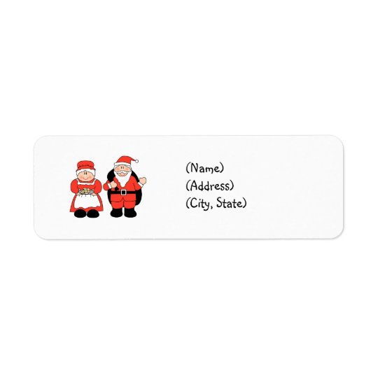 Mr. & Mrs. Claus Personalized Return Address Label