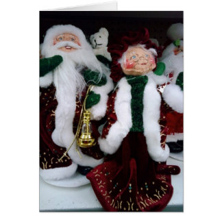 MR/MRS CLAUS SEND CHRISTMAS WISH CARD