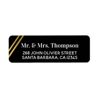 Mr Mrs couple address wedding black label