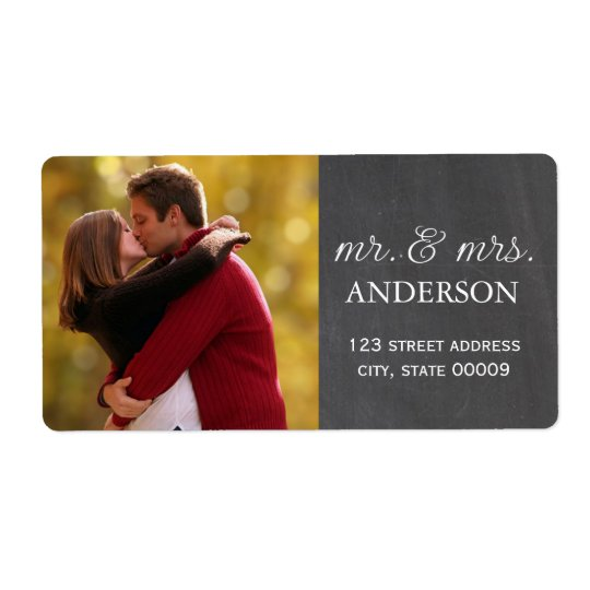 Mr. & Mrs. Custom Photo Labels