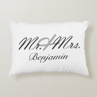 Mr. & Mrs. Decorative Pillow