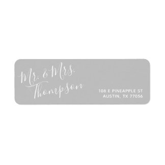 Mr. & Mrs. | Everyday Modern | Grey Return Address