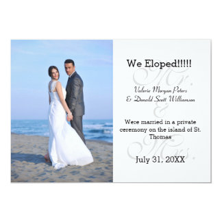 Mr. & Mrs. Grey We Eloped - Photo Announcement