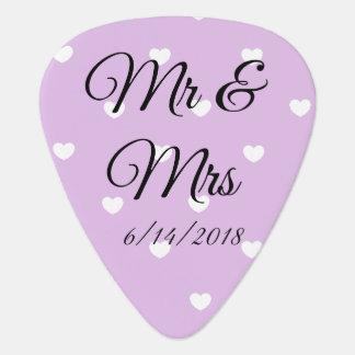 Mr & Mrs Guitar Picks Personalized Wedding Favors