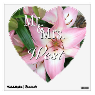 Mr. & Mrs. Heart Wall Decal Template (2)