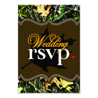 Mr & Mrs Hunting Camo Brown Wedding RSVP Cards