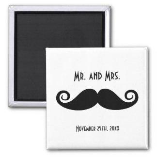 Mr. & Mrs. Mustache Magnet