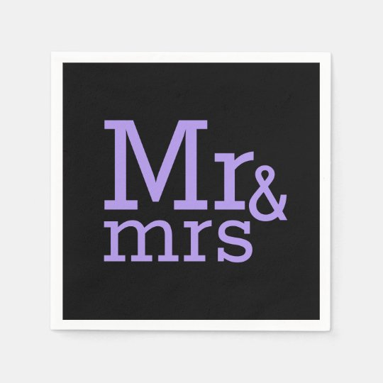 Mr & mrs Paper Napkins