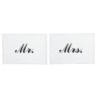 """""""Mr. & Mrs."""" Pillowcases"""