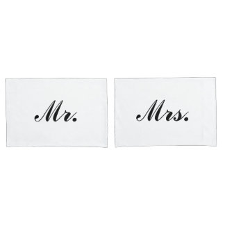 """Mr. & Mrs."" Pillowcases Pillowcase"