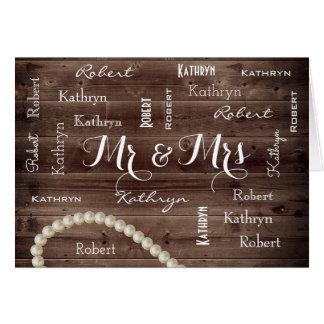 Mr & Mrs Rustic & Elegant Wedding Card