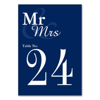 Mr&Mrs Simple Elegant Typography Nautical Wedding Table Cards