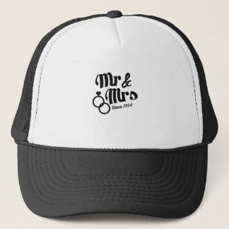 Mr & Mrs Since 1994 Wedding Anniversary 23 Year Trucker Hat