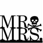 Mr & Mrs Skull Cake Topper Photo Cutouts
