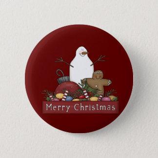 Mr & Mrs Snowman 2 Inch Round Button