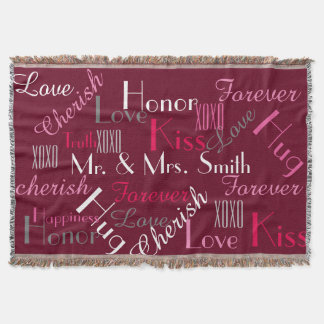 Mr. & Mrs. Throw Blanket