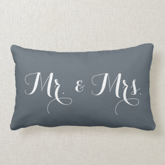 Mr. & Mrs. Throw Pillow
