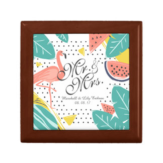 Mr. & Mrs. Watercolor Wedding Gift Box