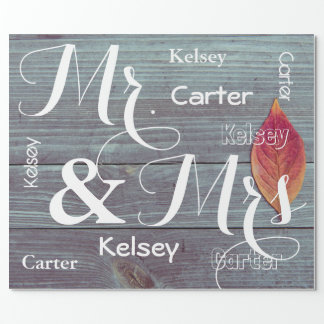 Mr & Mrs Wedding/Anniversary Personalized Names