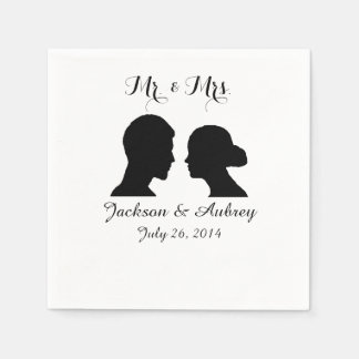 Mr. & Mrs. Wedding Napkins Disposable Napkins