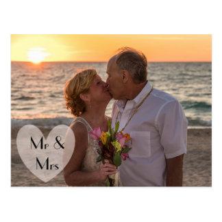 """Mr & Mrs"" Wedding or Elopement Announcements Postcard"