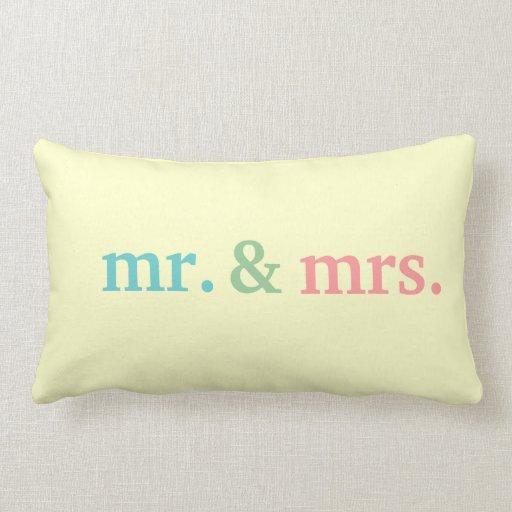 Mr Amp Mrs Wedding Pillows Zazzle