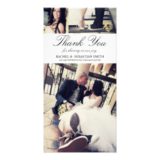 MR & MRS | WEDDING THANK YOU CARD CUSTOM PHOTO CARD