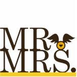 Mr & Mrs Wings Cake Topper