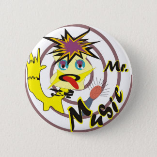Mr Music 2 Inch Round Button