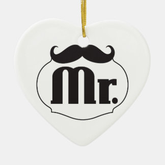 Mr. Mustache Retro Vintage Hipster Gifts Christmas Ornaments