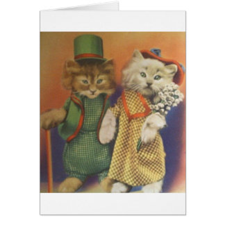 mr n mrs cat card