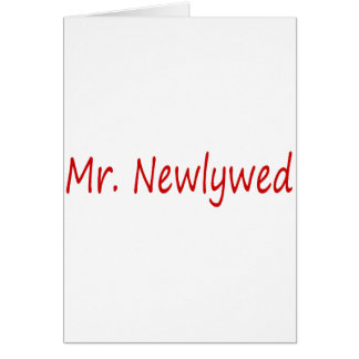 Mr. Newlywed (Red) Card