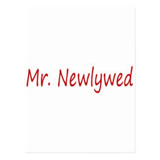 Mr. Newlywed (Red) Postcard