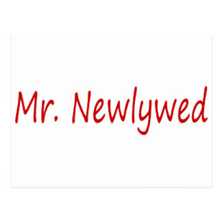 Mr. Newlywed (Red) Postcards