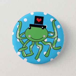 Mr Octopus Badge 2 Inch Round Button