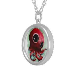 Mr Octopus Silver Plated Necklace