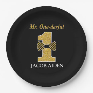 Mr. One-derful Custom Paper Plates 9""
