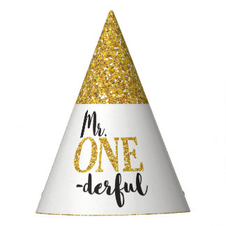 Mr. ONEderful Birthday Party Hat