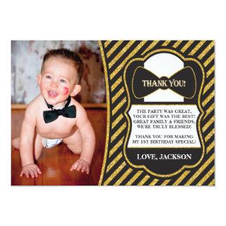 Mr. ONEderful Birthday Thank You Card
