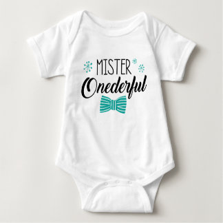 Mr. Onederful Party Outfit Baby Bodysuit