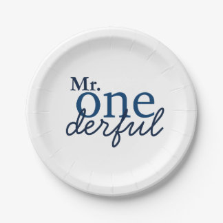 Mr Onederful Party Plates