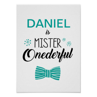 Mr. Onederful Party Sign Poster