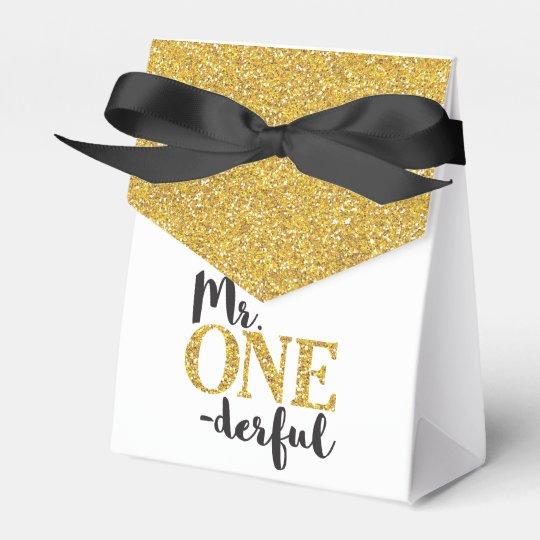 Mr. ONEderful Tent Favour Box Wedding Favor Box