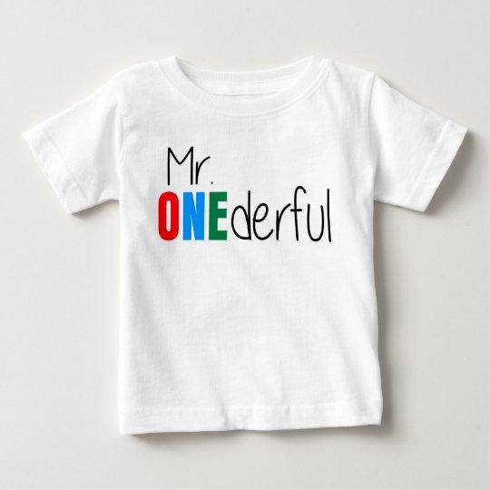 Mr Onederful Wonderful Kids Birthday T Shirt