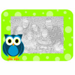 Mr. Owl Cut-Out Green Photo Sculpture Frame